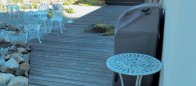 Outdoor deck incorporating nature